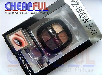W7 Brow Bar Eyebrow Stencil Kit Includes Powder, Comb And Brush • 4.79£
