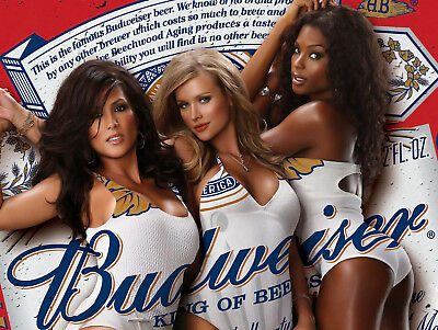 Budweiser Girls, Retro Vintage Style Metal Sign/plaque Shed Man Cave Bar/pub • 4.58£