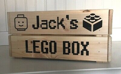 Personalised 'Lego Box' Crate/Box Vinyl Decal Sticker Bundle - Stickers Only • 2.99£