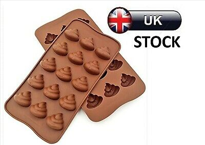 15 Poo Emoji Chocolate Candy Silicone Mould Jelly Mold Cake Decorating Poop • 2.89£