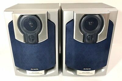 $39.95 • Buy AIWA Speakers SX-NAJ502 3 Way Bass Reflex Speaker System 100W Each