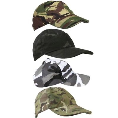 £8.50 • Buy Adults Army Camouflage Cap Mens Ripstop Hat Mtp Dpm Sas Btp Black Urban Camo