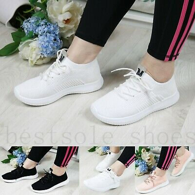 Womens Ladies Running Trainers Gym Walking Sneakers Plimsolls Shoes Size • 12.99£
