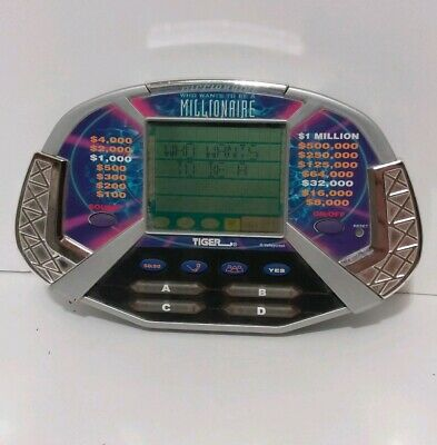 £7.65 • Buy Vintage WHO WANTS TO BE A MILLIONAIRE Handheld Game By TIGER 2000 - Works Great