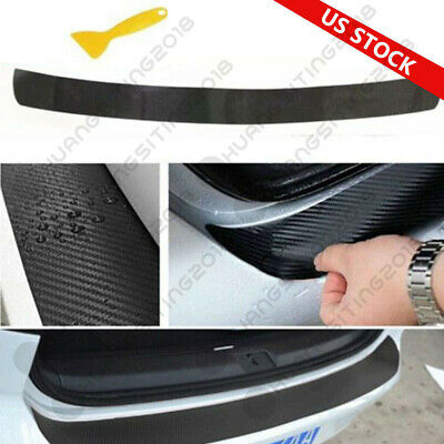 $5.89 • Buy Universal 4D Carbon Fiber Car Rear Bumper Trunk Tail Lip Protect Decal Sticker Q