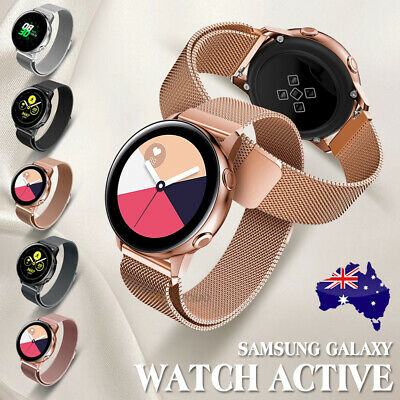 AU12.95 • Buy Samsung Galaxy Watch Active 2 Milanese Magnetic Stainless Steel Replacement Band