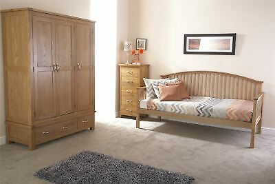 Madrid 3ft Single Wooden Day Bed Only Oak • 233.99£