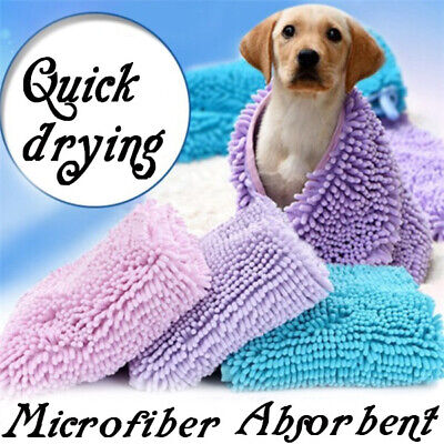 Pet Dog Cat Puppy Bath Towel Super Absorbing Water Bath Robe Cleaning Drying🔥🔥 • 14.99£