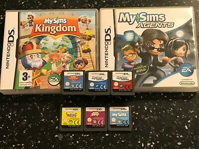 6 NINTENDO DS DSL DSi GAMES MY SIMS +SKY HEROES +AGENTS +RACING +PARTY & KINGDOM • 26.99£