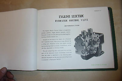 English Electric Control Valve Aircraft Part Operation Construction Test Manual  • 22.99£