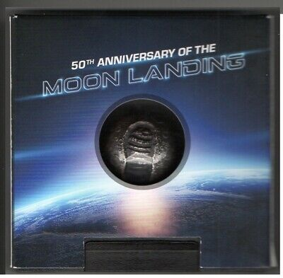 TO MARK THE 50th ANNIVERSARY OF THE MOON LANDING A SPHERICAL SILVER COIN (rare) • 275£
