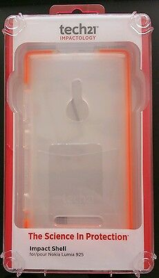 AU17.50 • Buy Tech21 Impact Shell Case Cover T21-3305 For Nokia Lumia 925 Clear Orange AusPost
