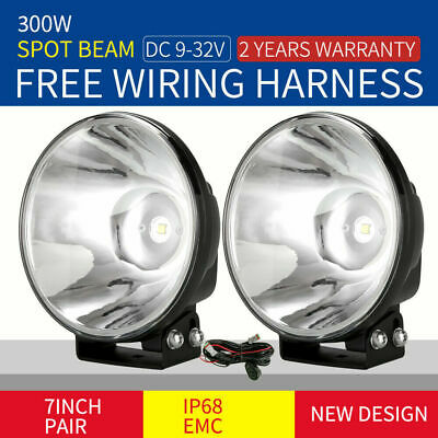 AU79.99 • Buy OSRAM 7'' Slimline LED Driving Lights Spot Black Work REPLACE HID XENON OffRoad
