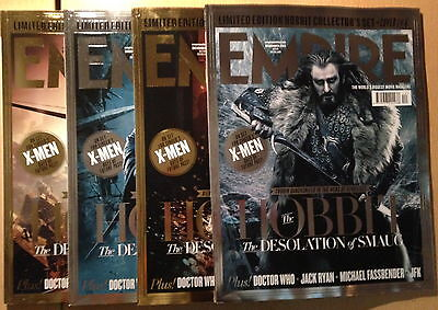 EMPIRE December 2013,The Hobbit:The Desolation Of Smaug,Luke Evans,4 COVERS NEW • 119.99£