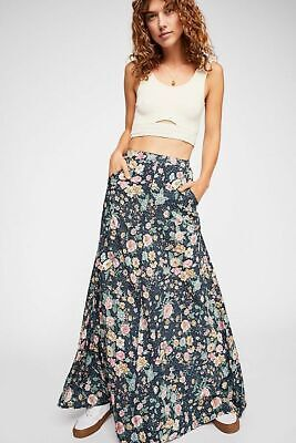 $138 • Buy Free People NWT Size 2 XS  Auguste The Label Spring Rose Wylde Maxi Skirt NEW