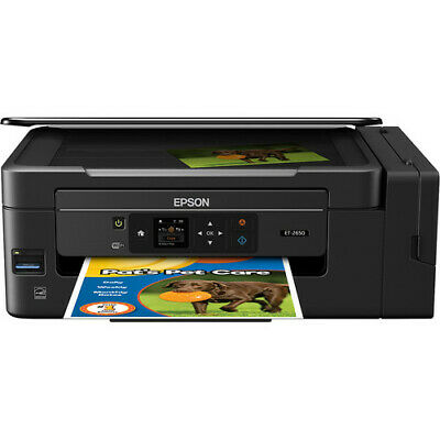 View Details Epson Expression ET-2650 EcoTank Wireless All-in-One Color Supertank Printer • 195.54$