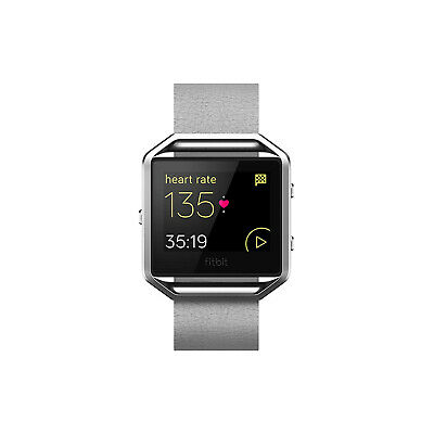 AU26.15 • Buy New Fitbit Blaze Leather Accessory Band And Frame Color: Gray Size: L Free Ship