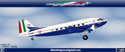 Dc-3 Goberment Mexico Presidential Scale 1/72 (decals) • 9.79£
