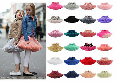 Girls Kids Tutu Skirt Kids Dance Tutu Petticoat Party Dress Ballet Fluffy Layer • 14.07£