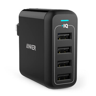 AU25.78 • Buy Anker Powerport 4 Wall Charger - Black - BRAND NEW SEALED