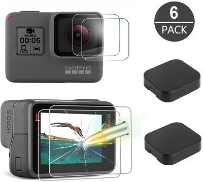 $ CDN11.69 • Buy Tempered Glass Screen Protector For GoPro Hero 7 6 5 Lens Caps Anti-Scratch 6 PC