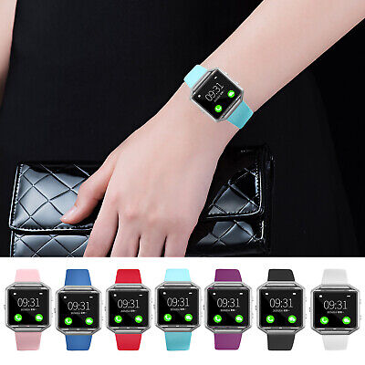 $ CDN6.58 • Buy Many Colors L/S Sports Silicone Watch Wrist Band Strap Bangle For Fitbit Blaze
