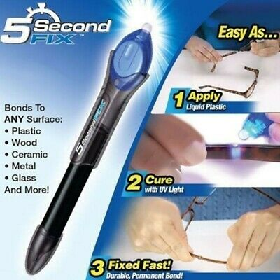 $ CDN12.07 • Buy Laser Bond 5 Second Rapid Fix UV Light Repair Cure Tool Glue Liquid Plastic Weld