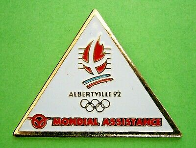 £6.50 • Buy F896* Albertville 92 Winter Olympic Games Mondial Assistance Tie Lapel Pin Badge