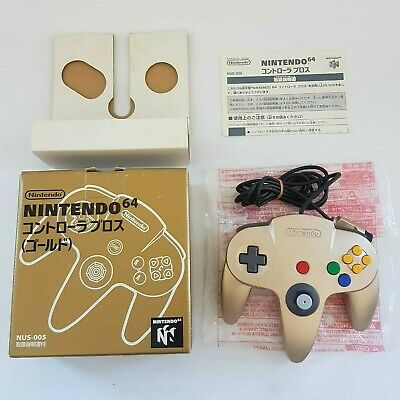 AU104.96 • Buy 9.5/10 Stick! Genuine Authentic Nintendo 64 Controller Gold N64 Boxed Very Good