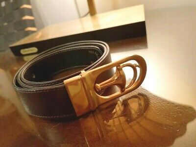 AU245 • Buy Vintage Gucci Womens Leather Belt With Brass Buckle - Very Collectable Revercabl
