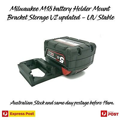 AU15.97 • Buy Milwaukee 18V M18 Dual Battery Holder Mount Bracket Storage