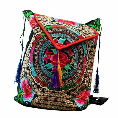 Chinese Style Bag Floral Embroidery Women Backpack Vintage New Girls Lady Unique • 18.31£