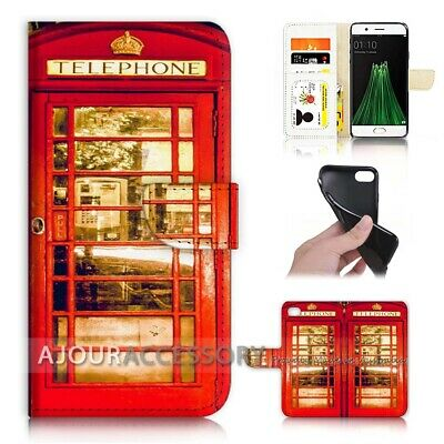 AU12.99 • Buy ( For Oppo A57 ) Wallet Flip Case Cover AJ21051 Red Phone Booth