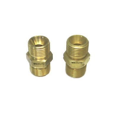 3/8 Bsp Brass Hose Couplers Oxygen Right Or Fuels Left (acetylene Or Propane) • 2.25£