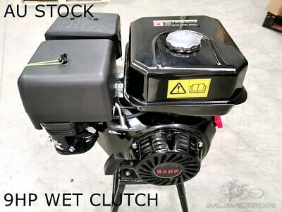 AU599 • Buy 9HP 2:1 Reduction Gear Box Stationary Motor Engine Wet Clutch 4 Go Kart Trike