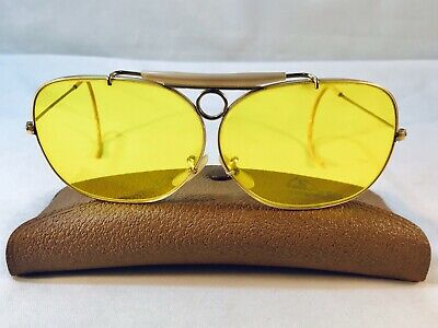 98a96578f40a3 Vintage 10k Gold Filled Ray-Ban Bausch   Lomb Aviator Shooting Sun Glasses  • 225.00