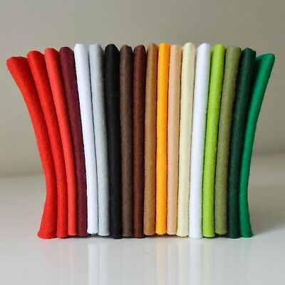Christmas Craft Felt Pack Selection | 18 Sheets | Wool Mix | Size Options       • 4£