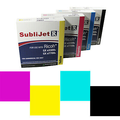 Sublimation Ricoh GX3300 A4 Printer Ink Cartridges -For Ricoh Printers A4 600ml • 103.09£