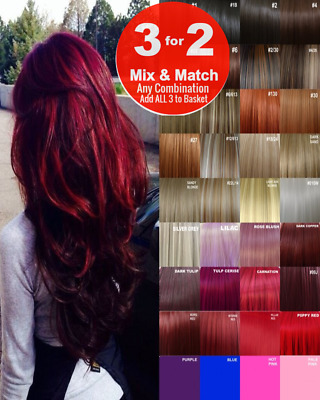 £7.47 • Buy Hair Extensions Clip-in Hair Real Human Feel Red Pink Blue White Purple Blondes