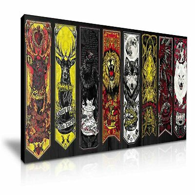 Game Of Thrones Seven Kingdoms Stretched Canvas ~ More Size • 19.99£