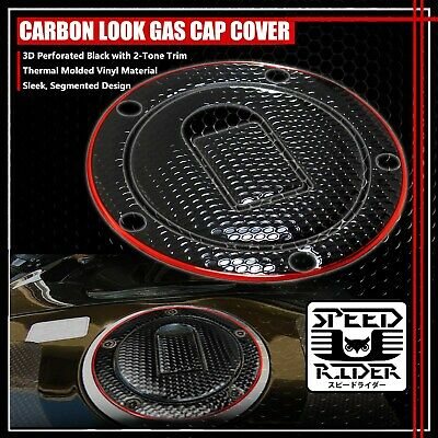 $15.95 • Buy 04-05 Ninja Zx-10r/6r/9r Gas Cap Fuel Lid Cover Protector Pad Black/chrome Red