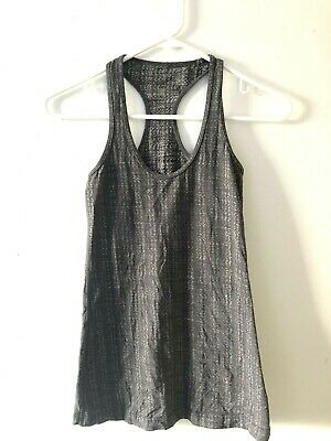 d1a392876cf Lululemon Cool Racerback Ziggy Wee Heathered Coal Gray Black Tank Top Size  2 • 20.00