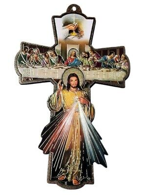 First Communion Confirmation Wall Cross Divine Mercy Boys Girls Recuerdo Gift 8  • 10.47£