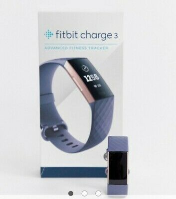 View Details Fitbit Charge 3 Blue Grey And Rose Gold  • 100.00£