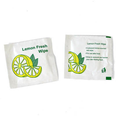 150 X SMALL Lemon-Scented Fresh Wet Hand Wipes Towel Napkin Individual Wrap • 9.49£