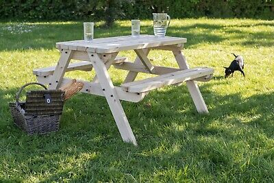 CLASSIC Rounded Picnic Table Bench - 4FT - Handmade Outdoor Furniture From Wood • 116£