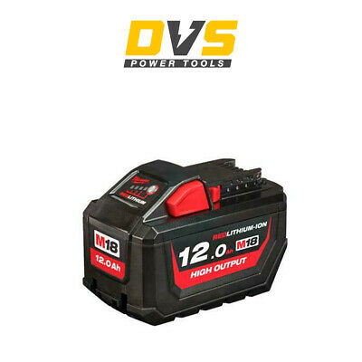 Milwaukee M18HB12 18v M18 12.0Ah Li-ion REDLITHIUM-ION High Output Battery • 184.90£