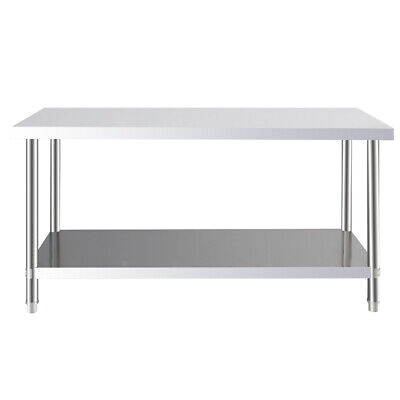 £139.96 • Buy 4/5FT Commercial Stainless Steel Catering Prep Table Work Bench Kitchen Worktop