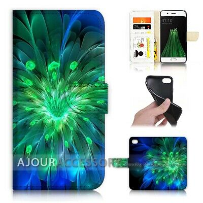 AU12.99 • Buy ( For Oppo A57 ) Wallet Flip Case Cover AJ31199 Abstract Flower