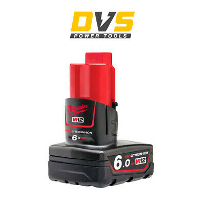 Genuine Milwaukee M12b6 M12 6.0ah Red Lithium-ion Battery • 65.95£
